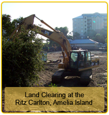 Land Clearing Services at Ritz Carlton Amelia Island